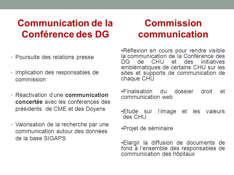 Communication de la Conférence des DG Commission communication