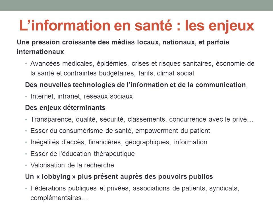 L'information en santé : les enjeux