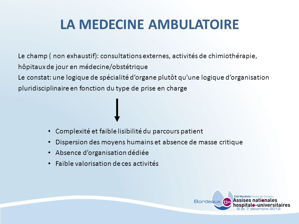 LA MEDECINE AMBULATOIRE