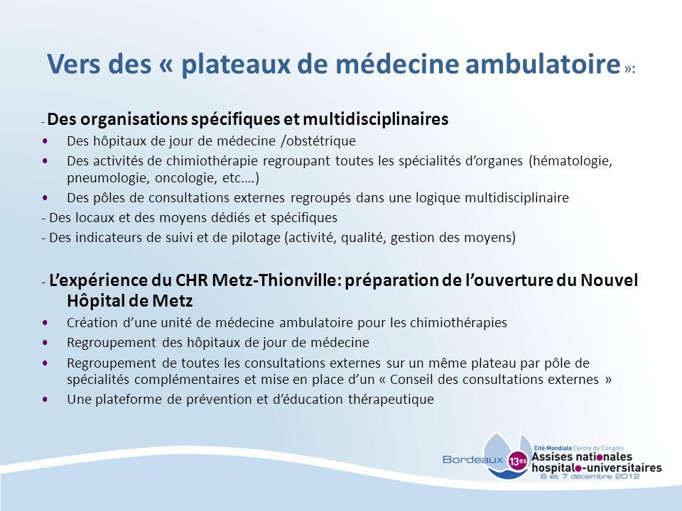 Vers des « plateaux de médecine ambulatoire »: