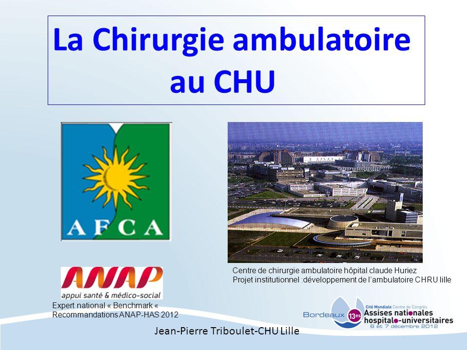 La Chirurgie ambulatoire au CHU