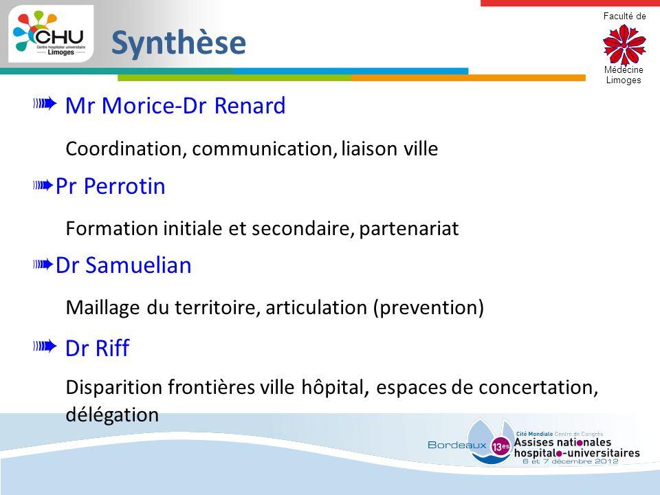 Synthèse ➠ Mr Morice-Dr Renard