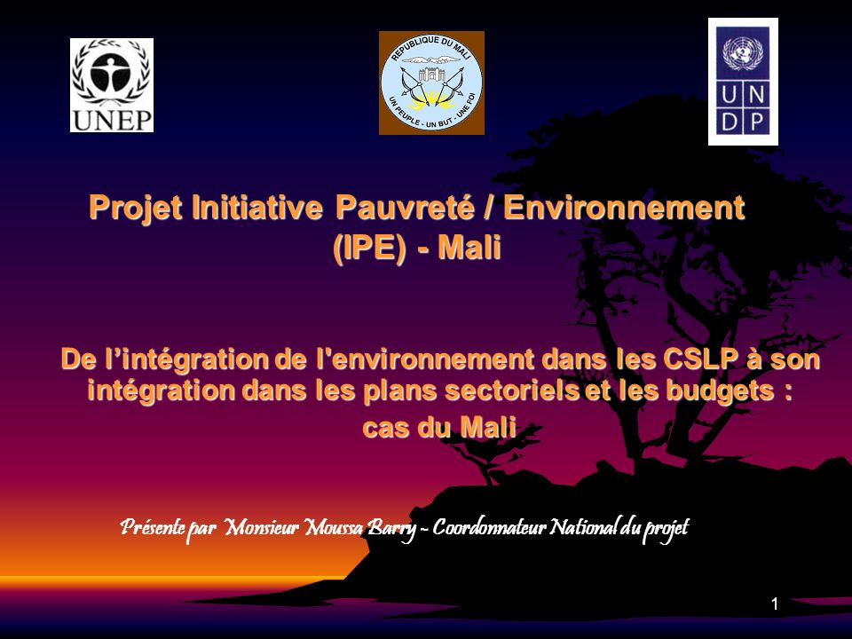 Projet Initiative Pauvreté / Environnement (IPE) - Mali