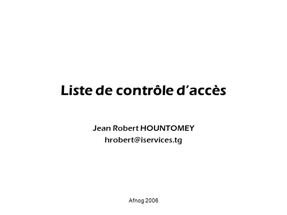 Liste de contrôle d'accès