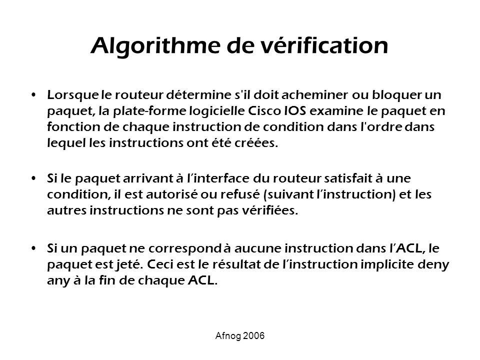 Algorithme de vérification