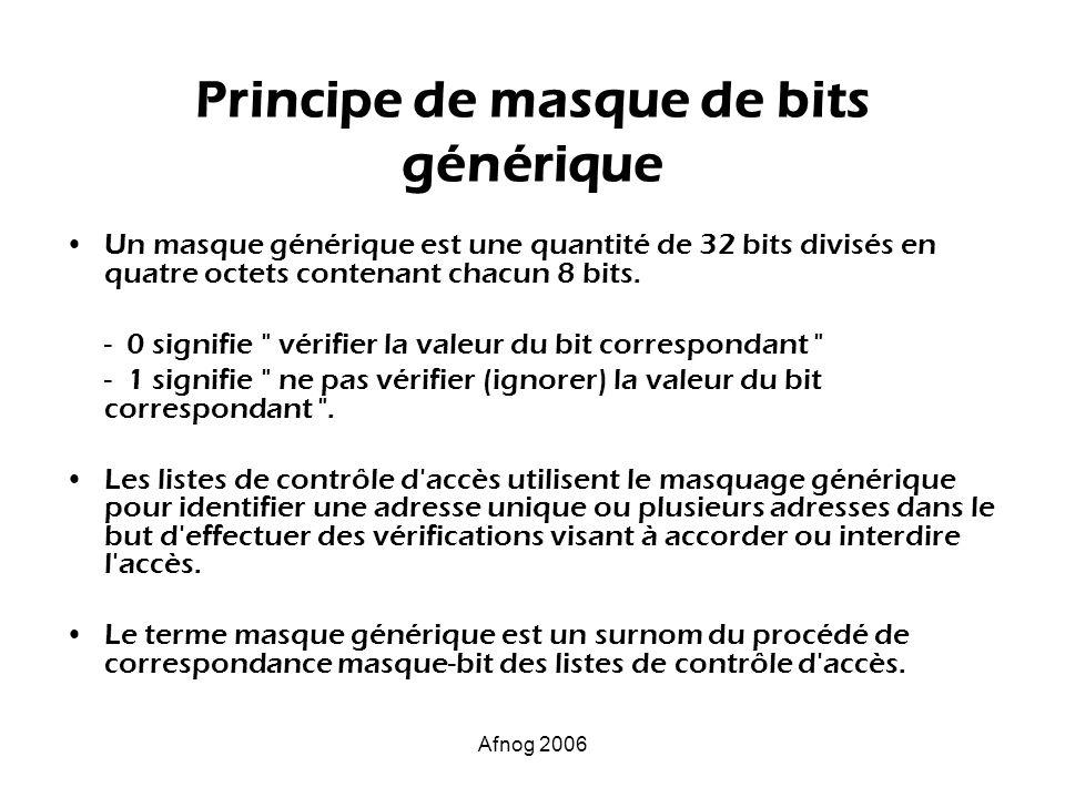 Principe de masque de bits générique