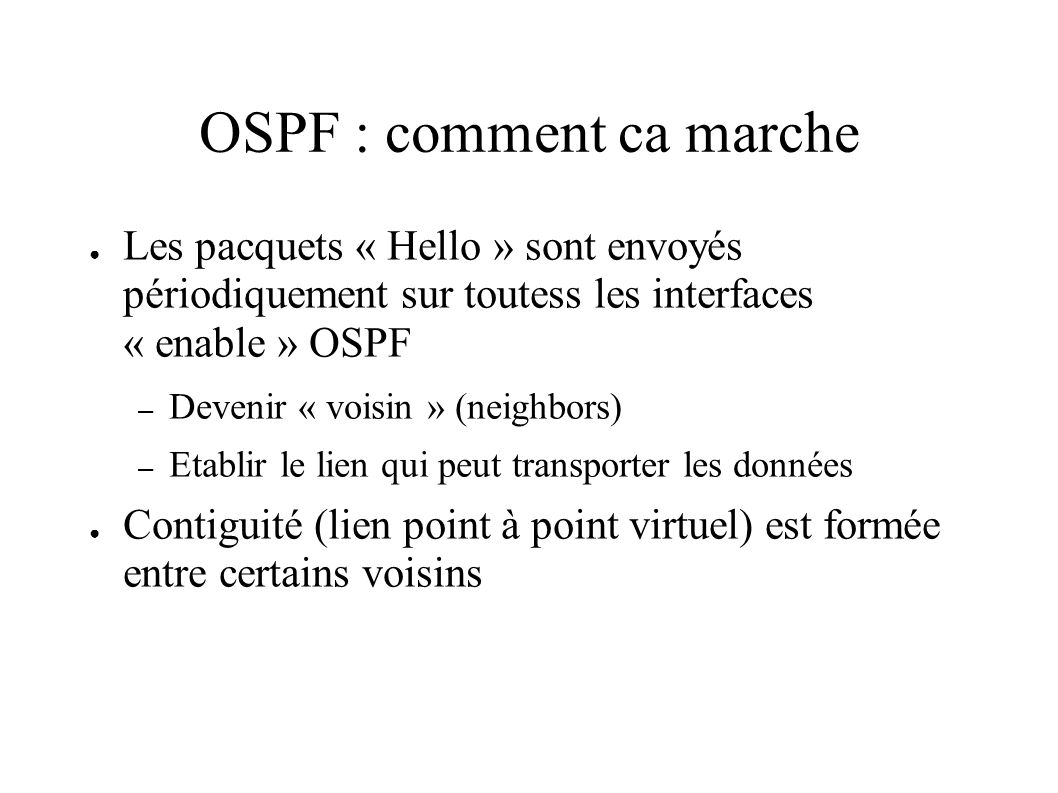 OSPF : comment ca marche