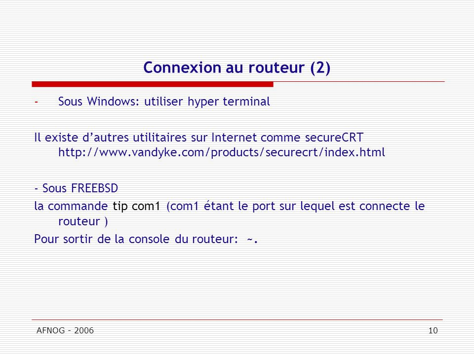 Connexion au routeur (2)