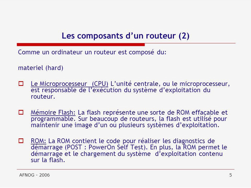 Les composants d'un routeur (2)
