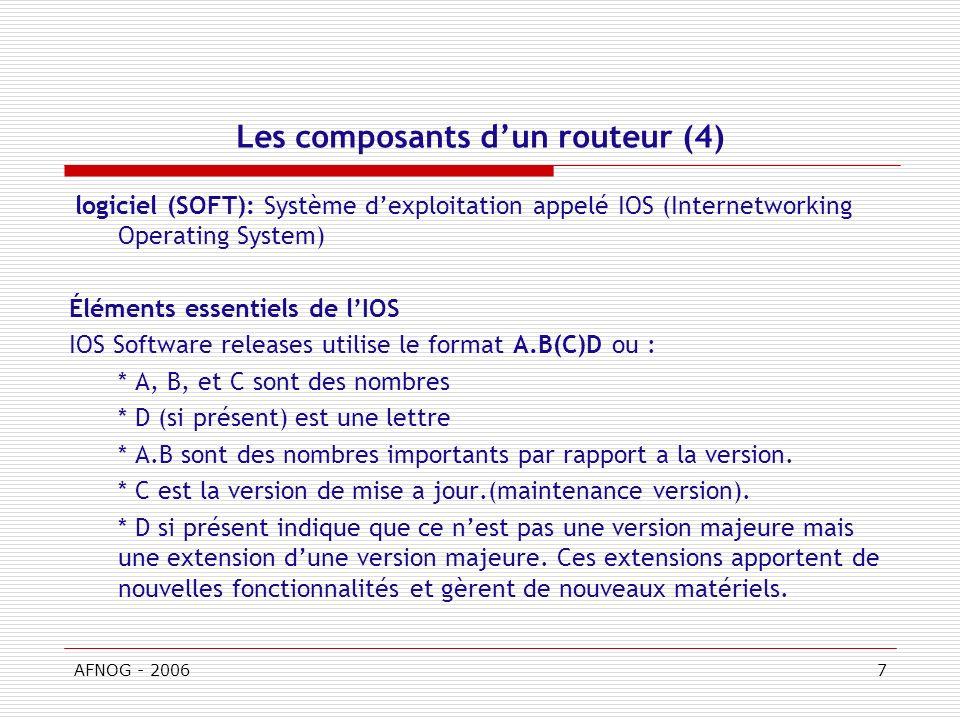 Les composants d'un routeur (4)