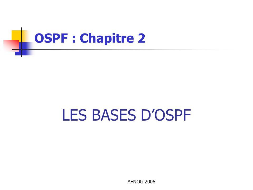 OSPF : Chapitre 2 LES BASES D'OSPF AFNOG 2006