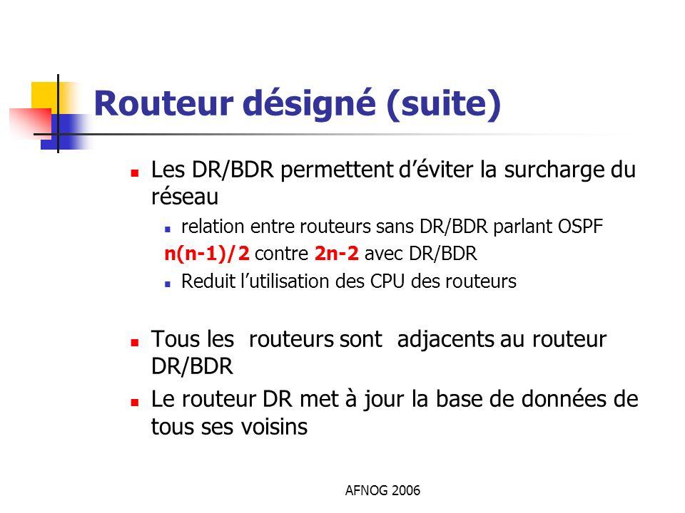 Routeur désigné (suite)