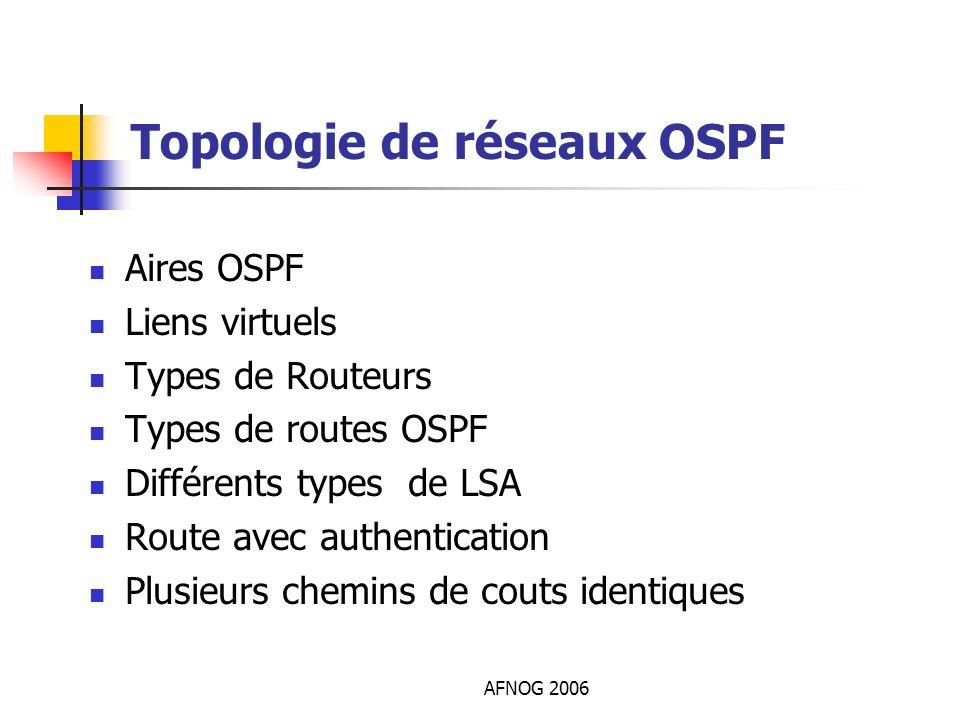 Topologie de réseaux OSPF