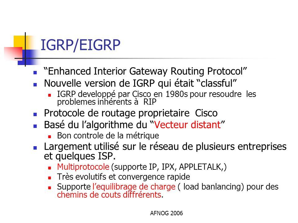 IGRP/EIGRP Enhanced Interior Gateway Routing Protocol
