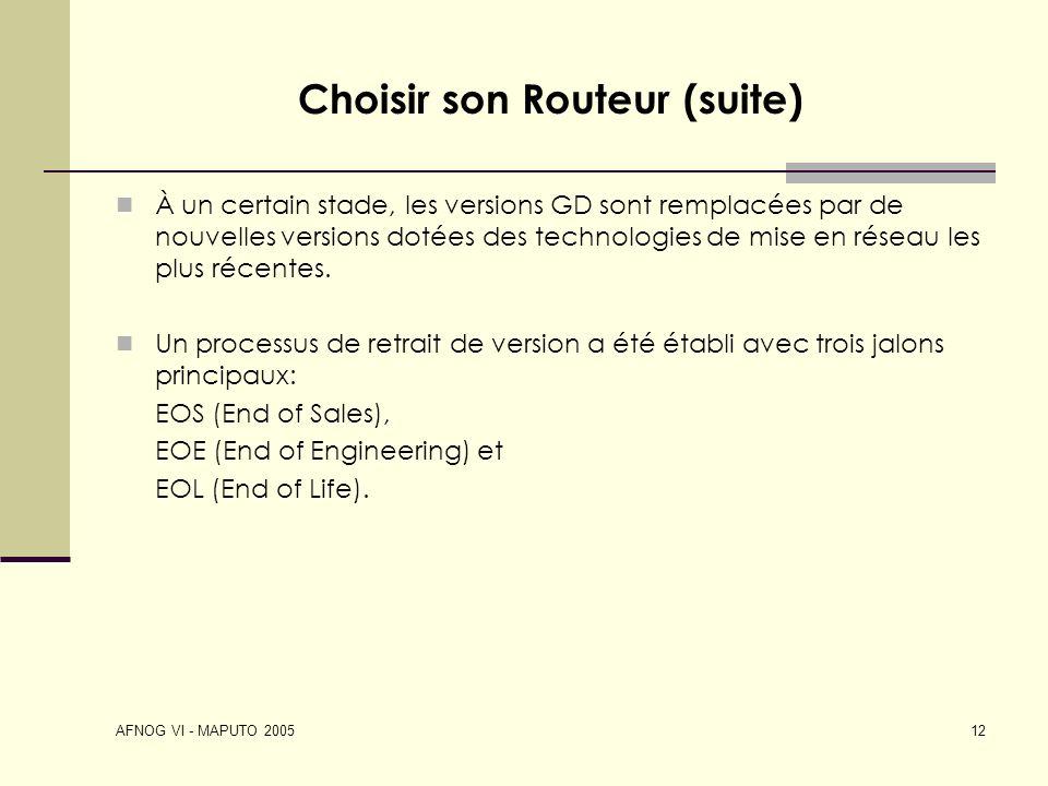 Choisir son Routeur (suite)