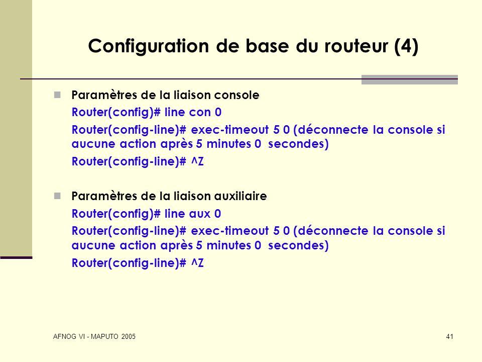Configuration de base du routeur (4)
