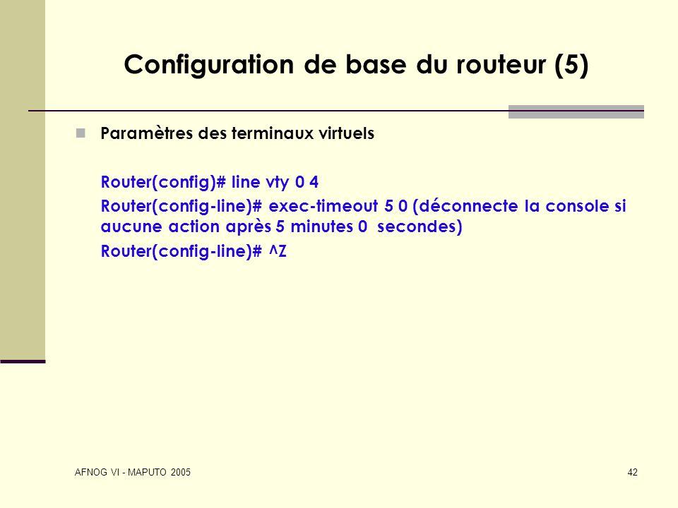 Configuration de base du routeur (5)