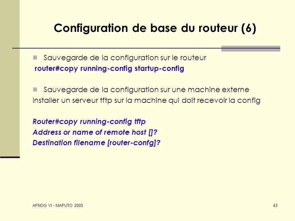 Configuration de base du routeur (6)
