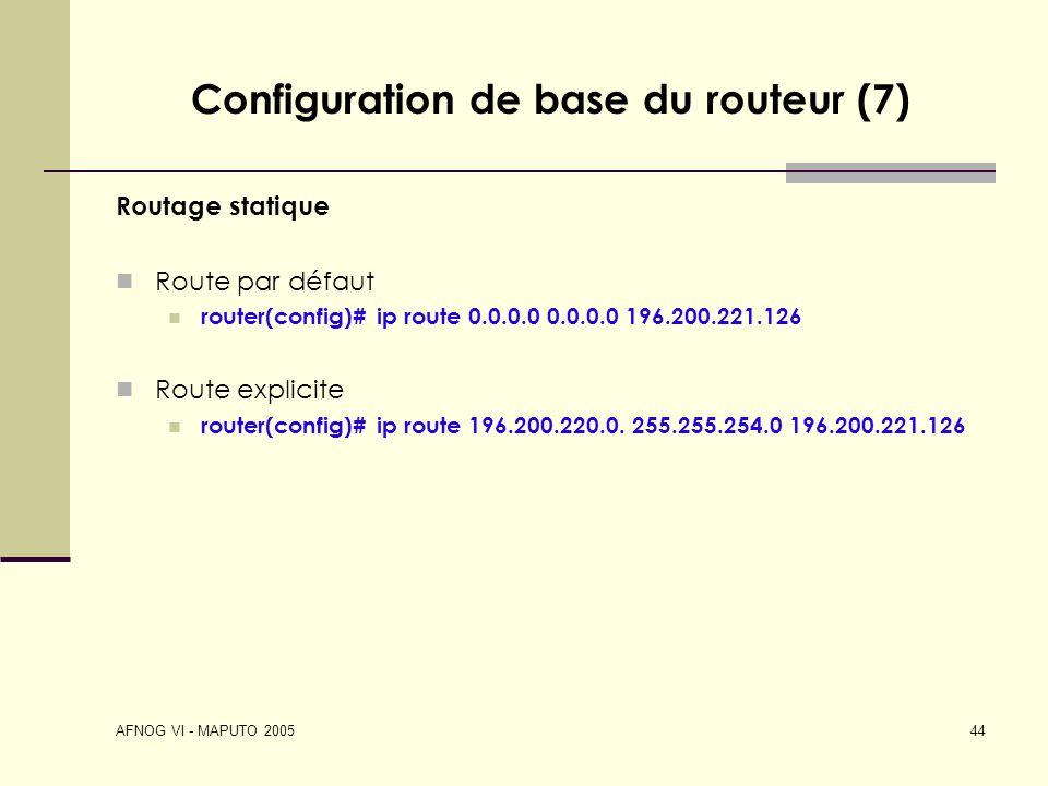 Configuration de base du routeur (7)
