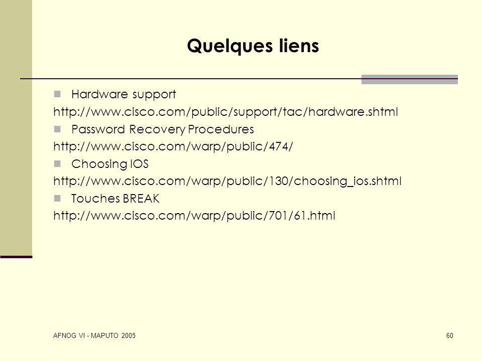 Quelques liens Hardware support