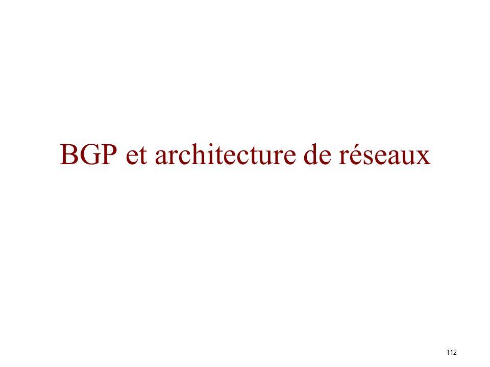BGP et architecture de réseaux