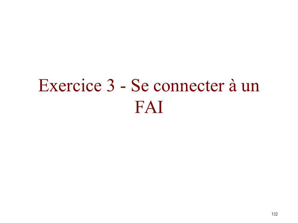 Exercice 3 - Se connecter à un FAI