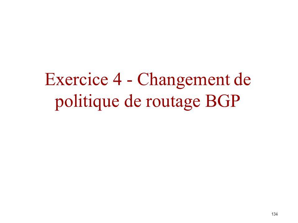 Exercice 4 - Changement de politique de routage BGP