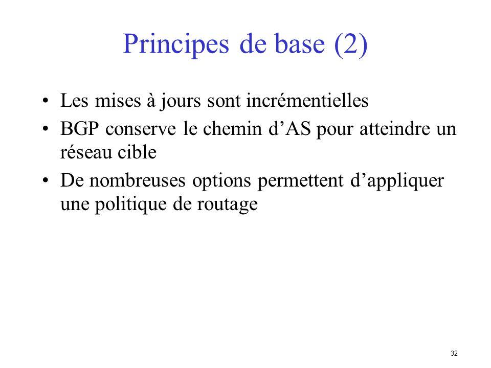 Principes de base (2) Les mises à jours sont incrémentielles