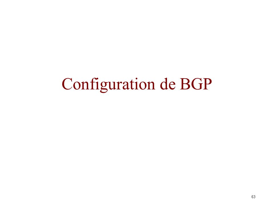 Configuration de BGP