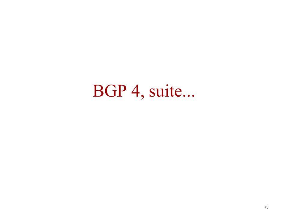 BGP 4, suite...