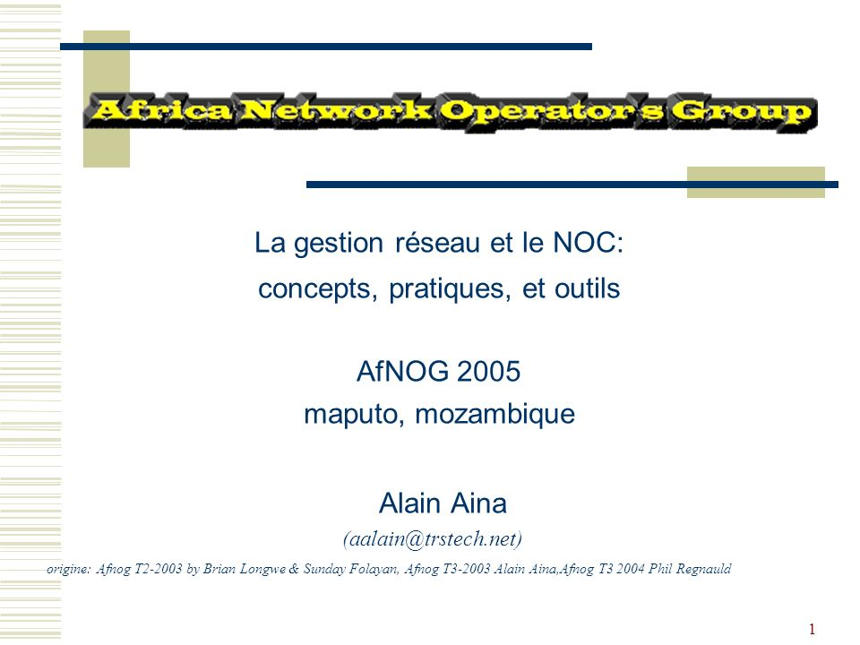 La gestion réseau et le NOC: concepts, pratiques, et outils