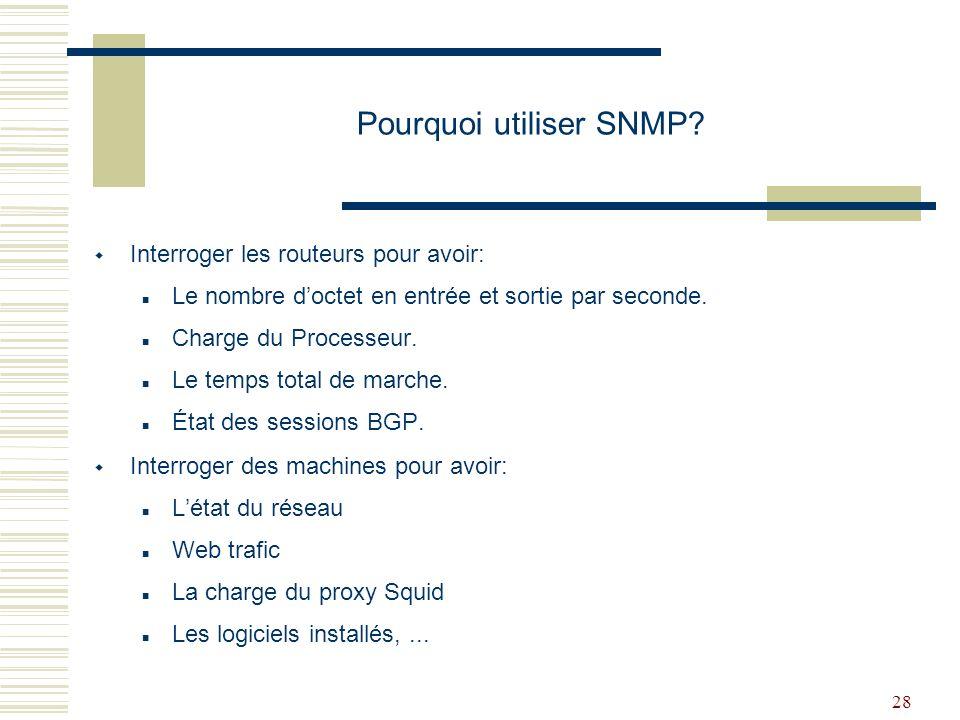Pourquoi utiliser SNMP