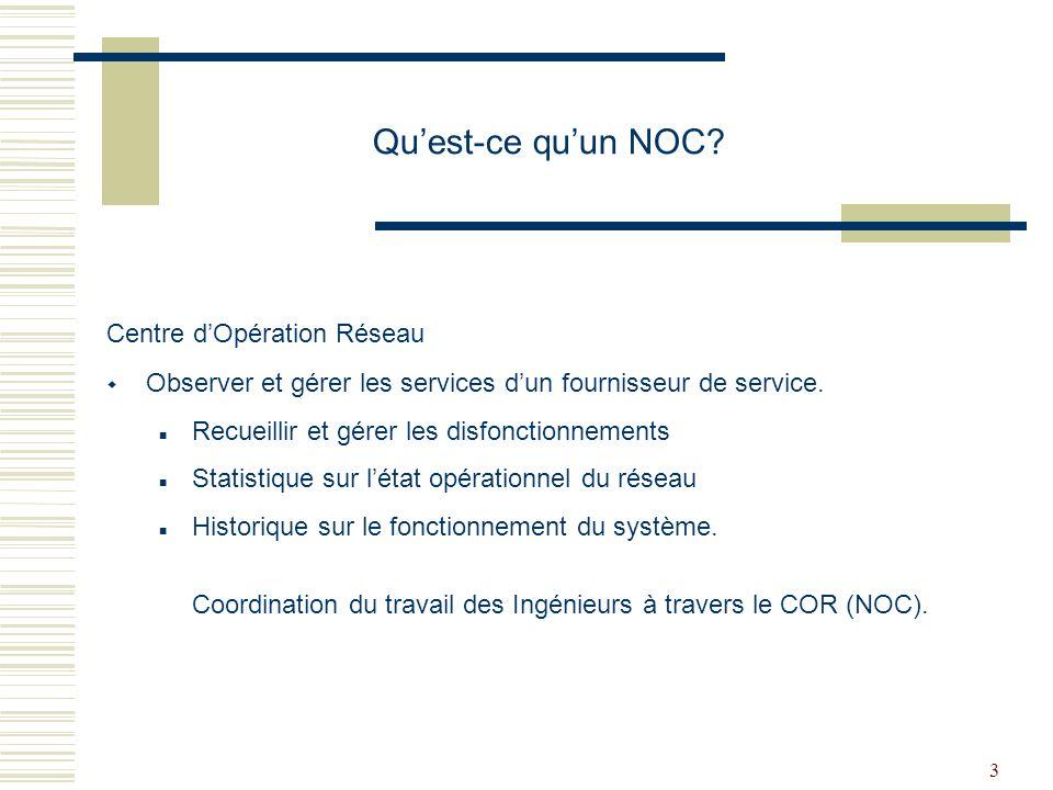Qu'est-ce qu'un NOC Centre d'Opération Réseau