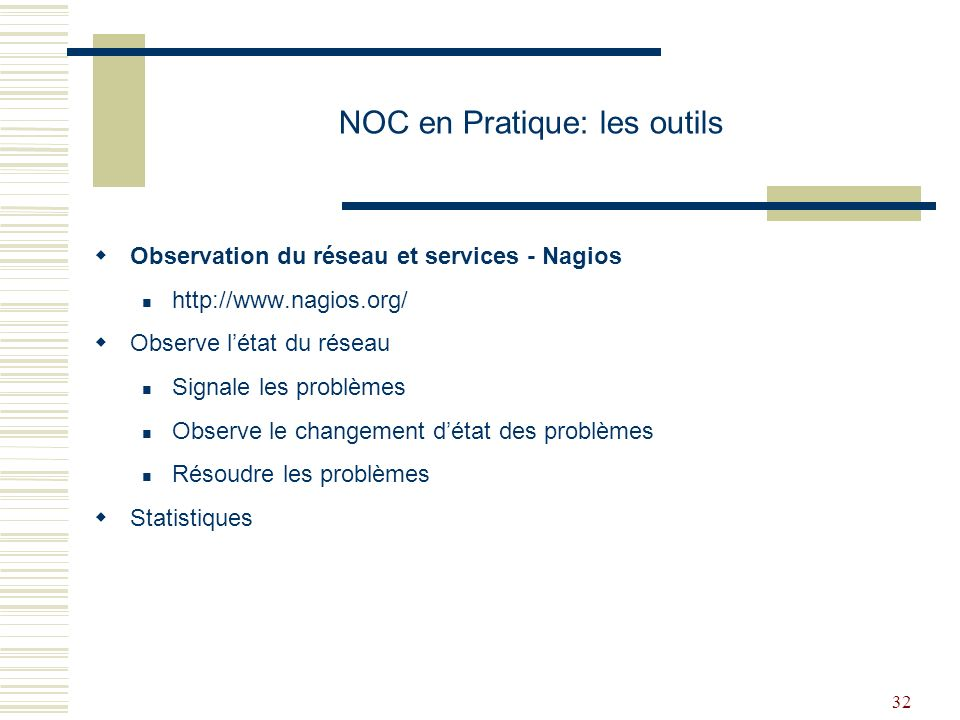 NOC en Pratique: les outils