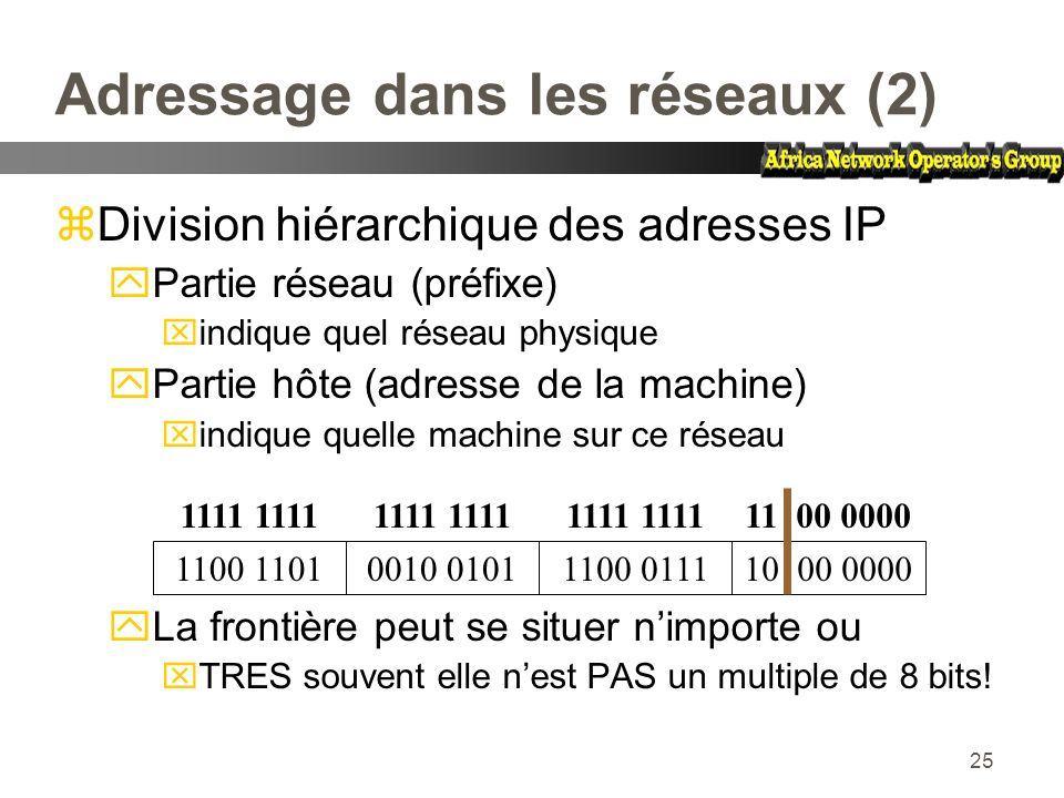 Adressage dans les réseaux (2)