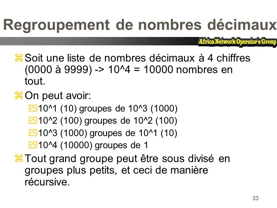 Regroupement de nombres décimaux