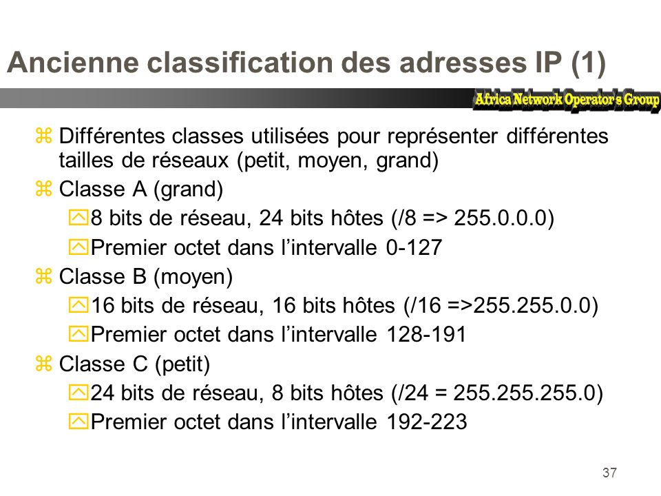 Ancienne classification des adresses IP (1)