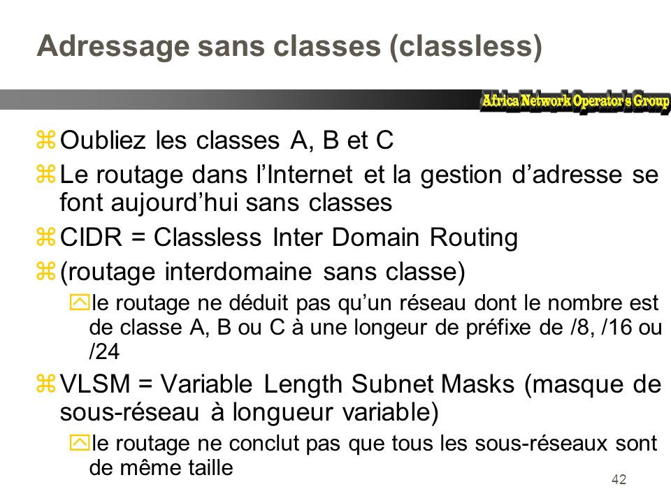 Adressage sans classes (classless)