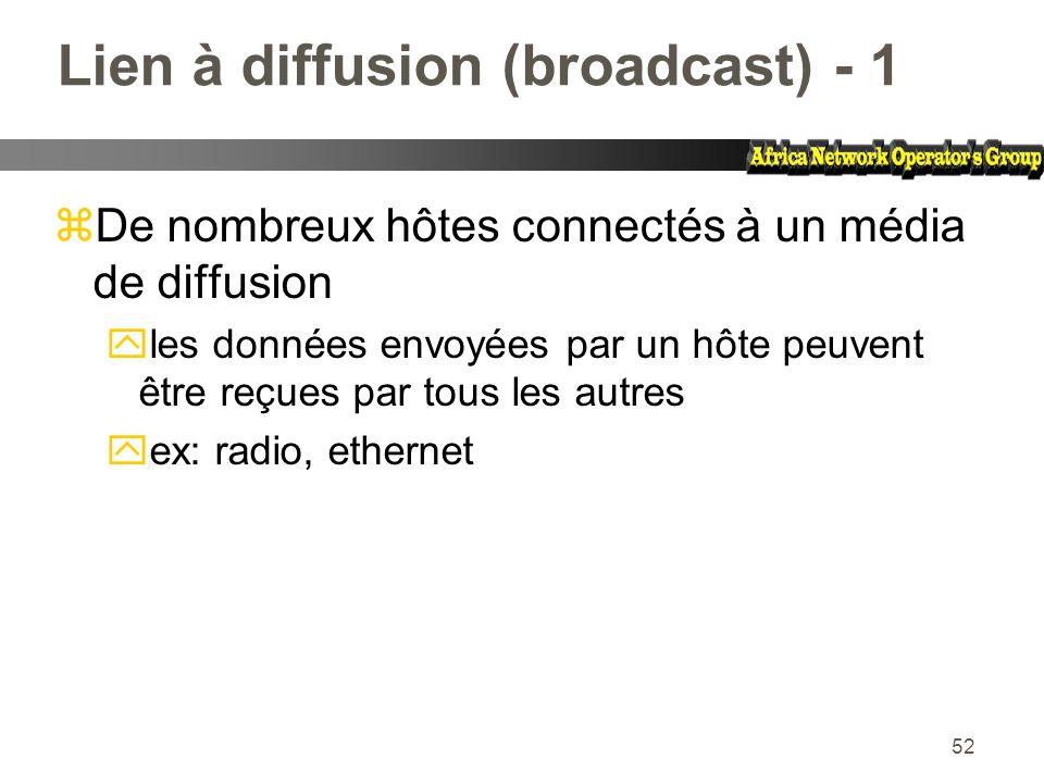 Lien à diffusion (broadcast) - 1