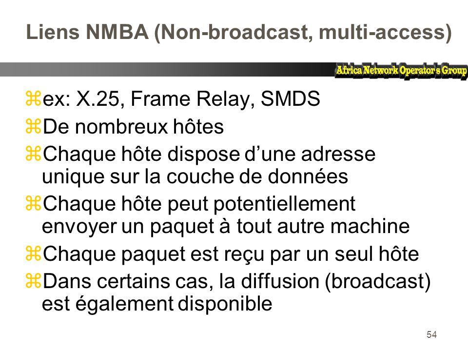 Liens NMBA (Non-broadcast, multi-access)