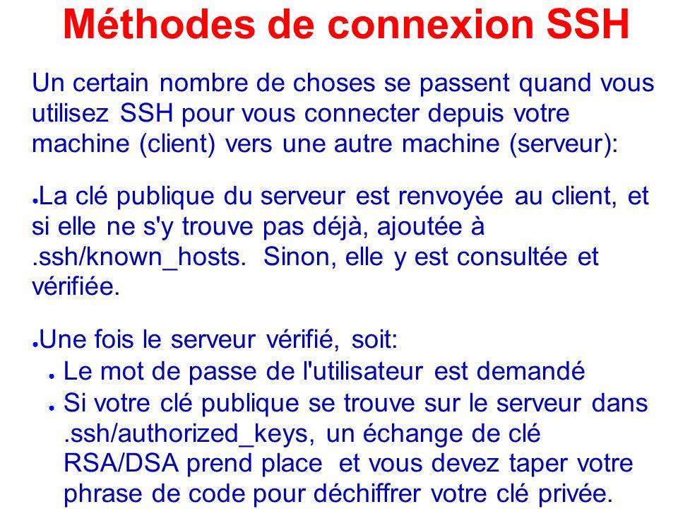Méthodes de connexion SSH