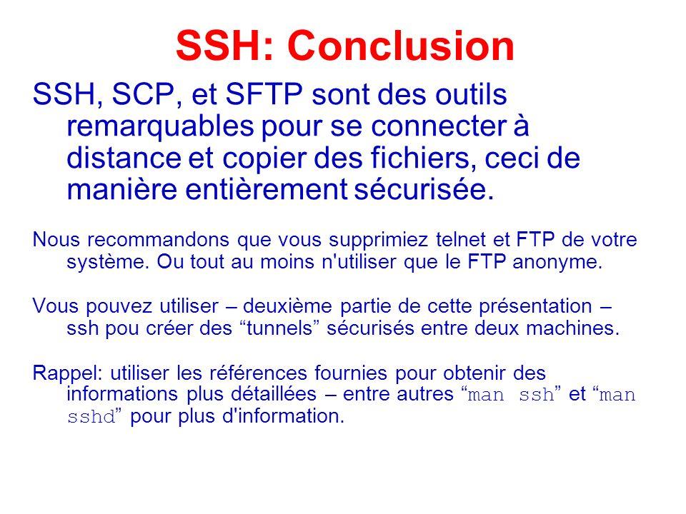 SSH: Conclusion