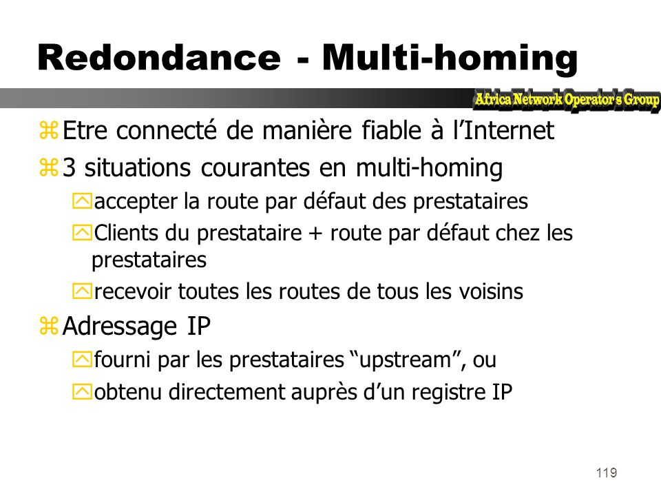 Redondance - Multi-homing