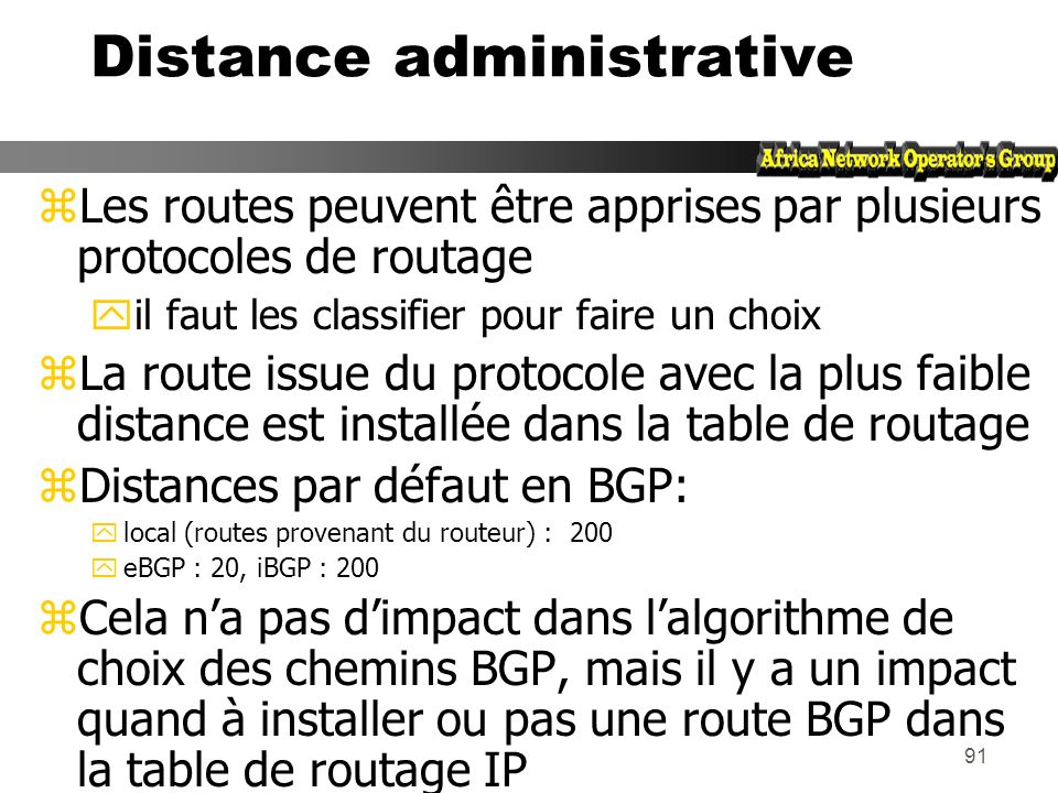 Distance administrative