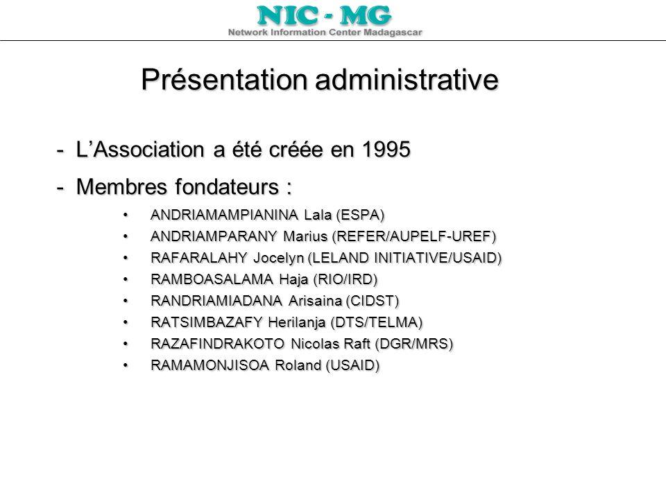 Présentation administrative