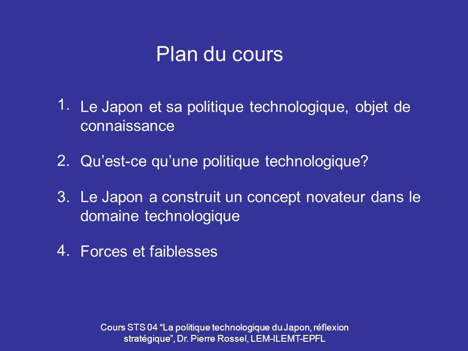 Plan du cours 1. Le Japon et sa politique technologique, objet de connaissance. 2. Qu'est-ce qu'une politique technologique