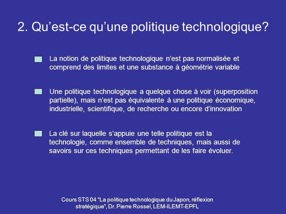2. Qu'est-ce qu'une politique technologique