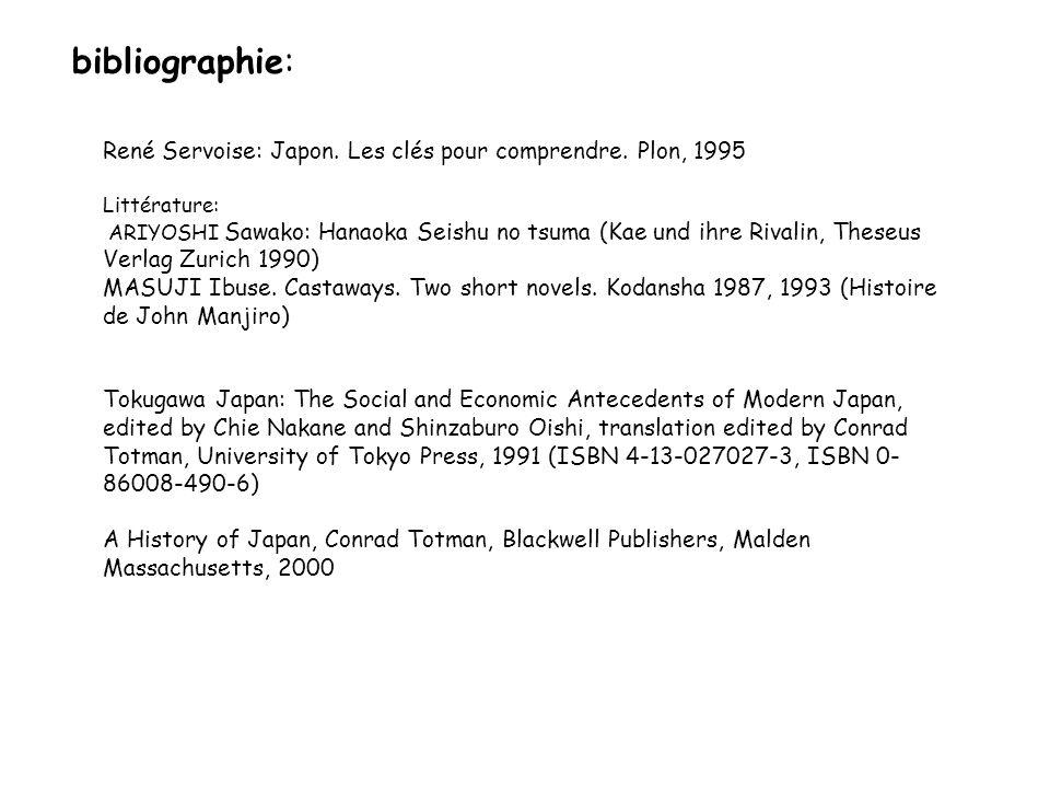 bibliographie: René Servoise: Japon. Les clés pour comprendre. Plon, 1995. Littérature: