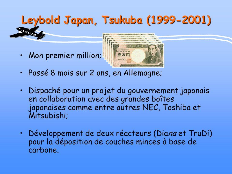 Leybold Japan, Tsukuba (1999-2001)