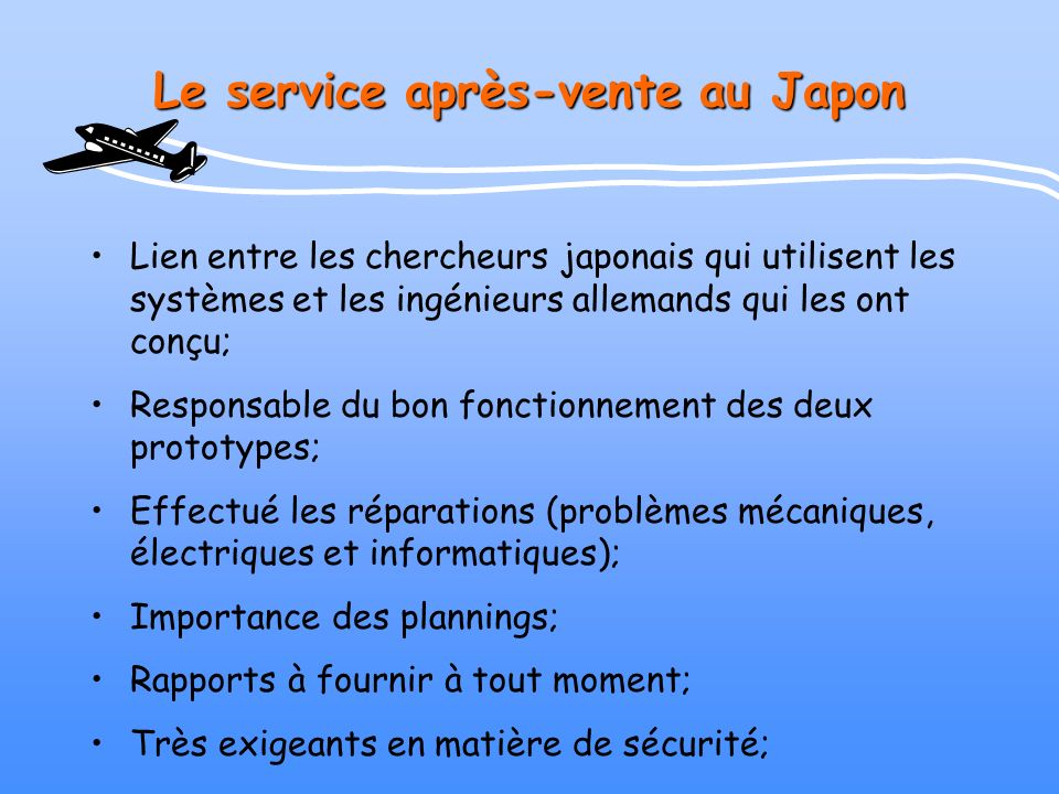 Le service après-vente au Japon